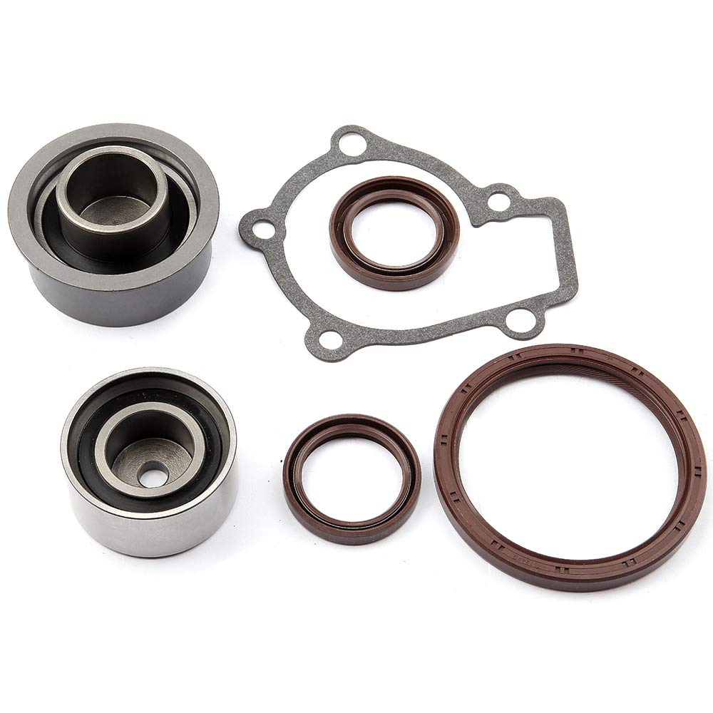 SCITOO Timing Belt Water Pump Kit Include Timing Belt Water Pump Tensioner Bearing and vavle Cover Gasket,ADP81272DA898S Automotive Replacement Parts Fits 2004-2008 Kia Spectra Sportage 2.0L