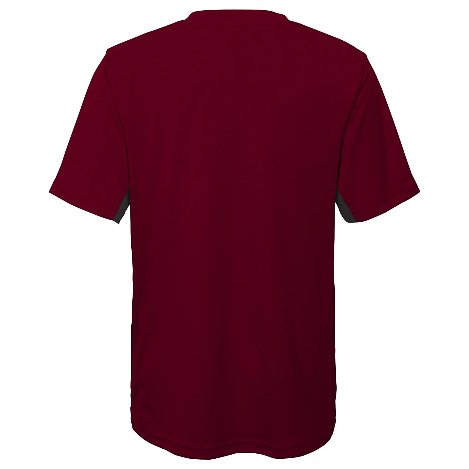 Maroon 14-16 NCAA by Outerstuff NCAA Harvard Crimson Youth Boys Mainframe: Short Sleeve Performance Top Youth Large