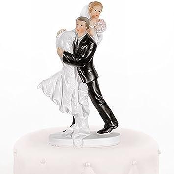 Hochzeitstortenfiguren Er Tragt Sie Uber Schulter 15cm Tortenfigur