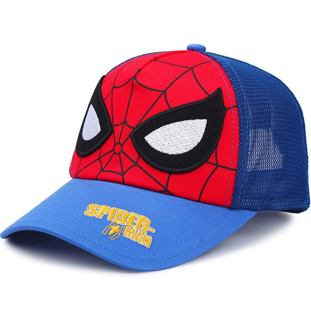 Liang Yu Baby Girls Hats Hat 50cm//52cm//54cm Spiderman Mesh Baseball Cap Boy Cap Summer Male Baby Visor color : Blue, Size : L-54cm