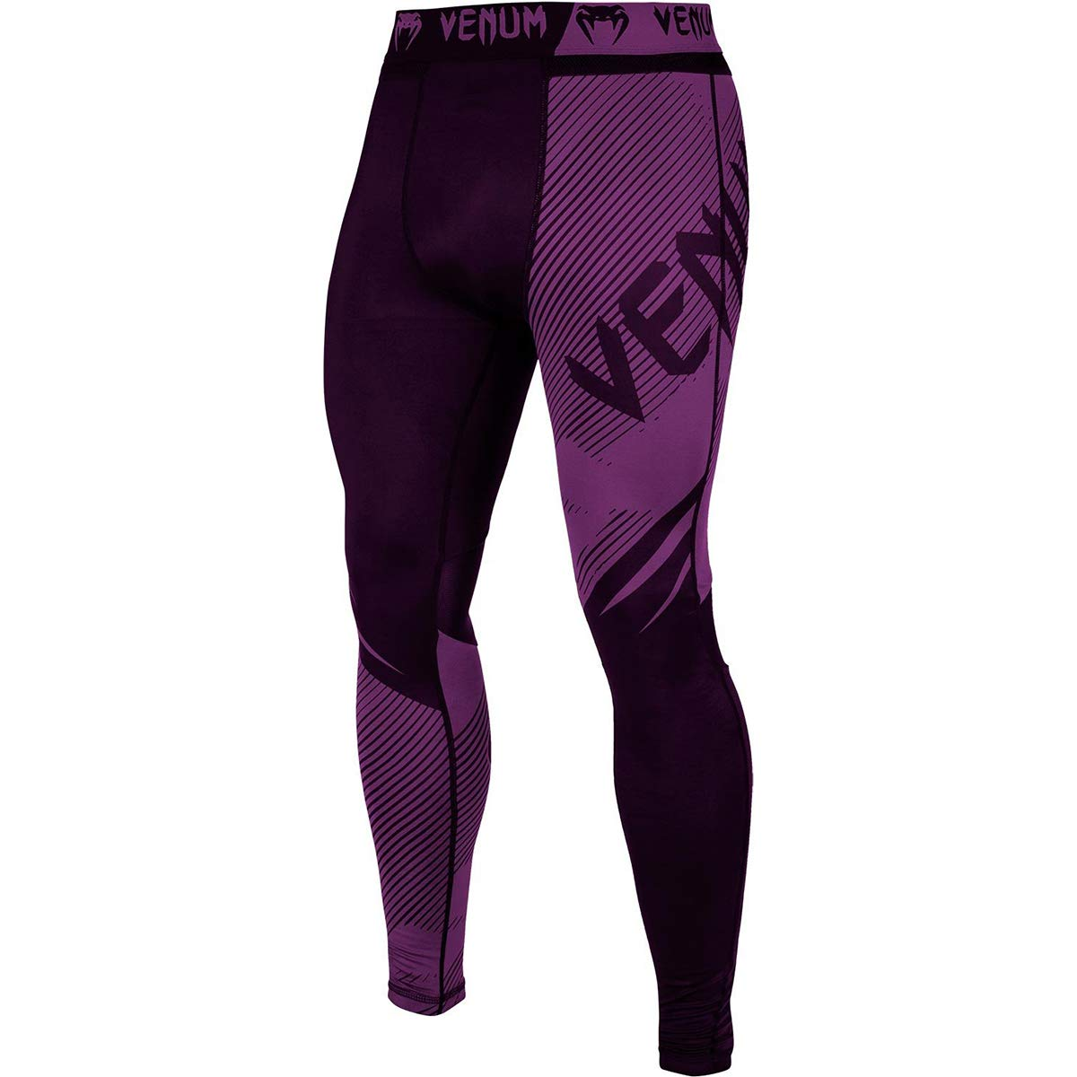 Venum No-Gi 2.0 MMA Compression Spats - Small - Black/Purple by Venum