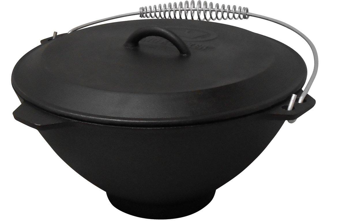 King Kooker 5911S Seasoned Cast Iron Pot and Lid, 2.75-Gallon
