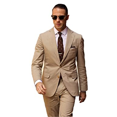 Amazon.com: BOwith Men Suits Slim Fit Costume Wedding Dress Groom ...