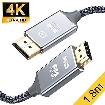 Snowkids Cable de conexión trenzada de nylon HDMI para HDTV ...