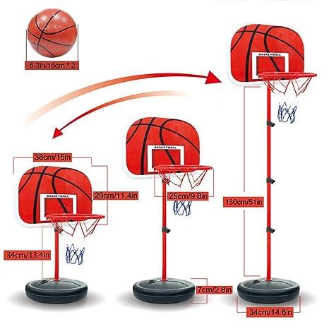 Canasta de baloncesto para niños Pellor, tablero y soporte ...