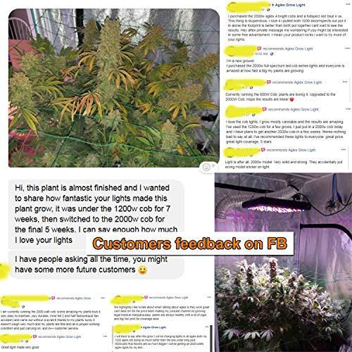 Full Spectrum UV IR Reflector Series Plant Grow AGLEX 600W COB LED Grow Light