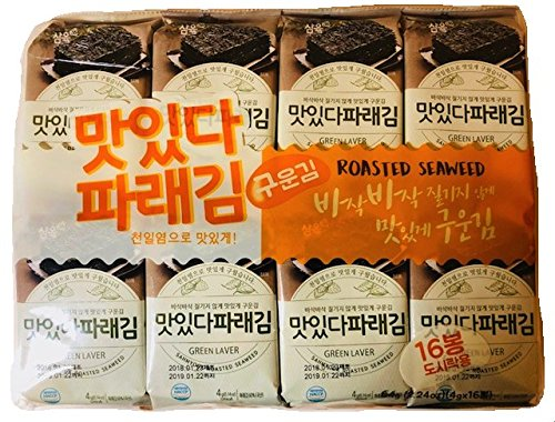Sahmyook Roasted Seaweed Snack, Sesame Oil, 0.18 Ounce (Pack of 16) Review