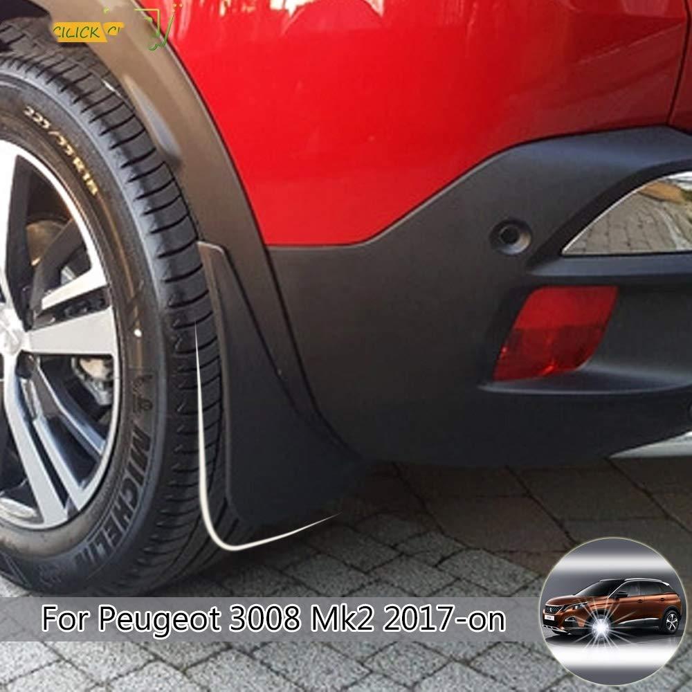 YXSMNB Bavettes Garde-Boue Garde-Boue Garde-Boue Garde-Boue Avant Pare-Boue pour Peugeot 3008 2 VUS 2017 /à partir de 2018 2019