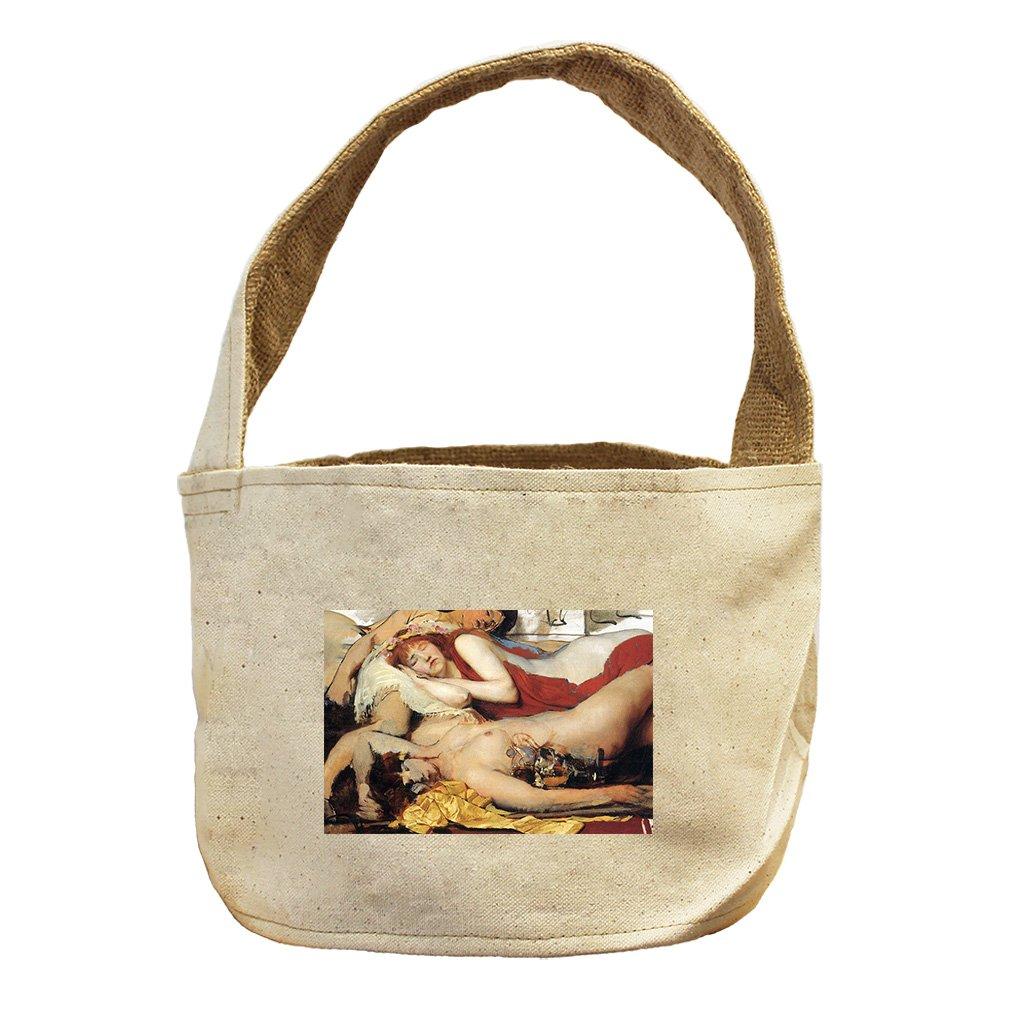 Style in Print Manaden After Dance (Alma Tadema) Canvas and Burlap Storage Basket Basket