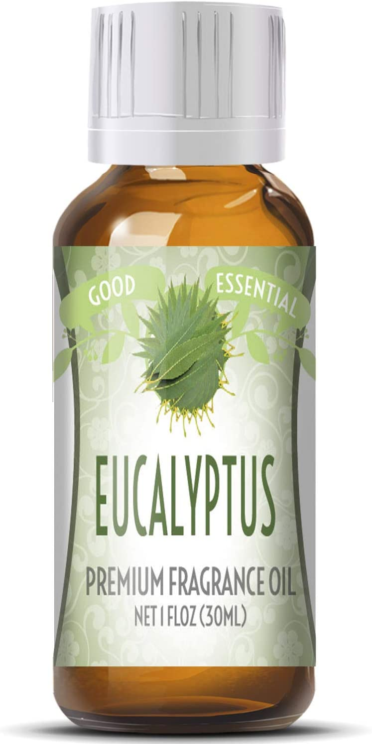 Eucalyptus Scented Oil by Good Essential (Huge 1oz Bottle - Premium Grade Fragrance Oil) - Perfect for Aromatherapy, Soaps, Candles, Slime, Lotions, and More!
