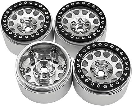"4x Alloy 1.9/"" Wheel Beadlock Rims For 1//10 RC Axial SCX10 D90 Wraith Crawler /_US"