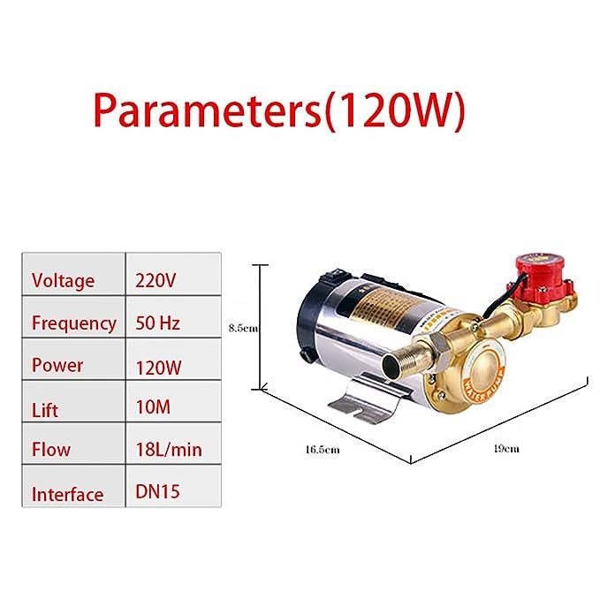 100w 120w 260w bomba booster alta presión automática para ducha Irrigación jardín calefaccion habitacion tanque agua solar: Amazon.es: Hogar