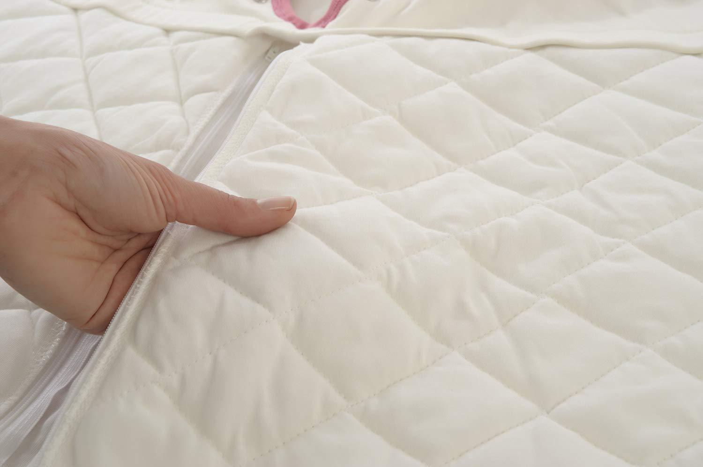 Mama Designs Babasac Multi Tog Multi tog 1.0 y 2.5 tog incluido Saco de dormir para beb/é en nube gris con borde de Russet Talla:0-6 meses tama/ños 0 /– 6 meses, 6 /– 18 meses y 18 /– 36 meses