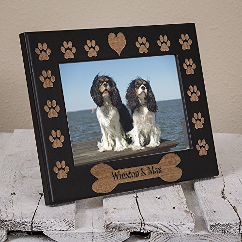 - Dog Name Picture Frame Engraved on Wood - Personalized Dog Picture Frame - Custom Dog Frame - Personalized Pet Gift - Gift for New Pet Owner - New Dog Gift - Dog Remembrance Frame