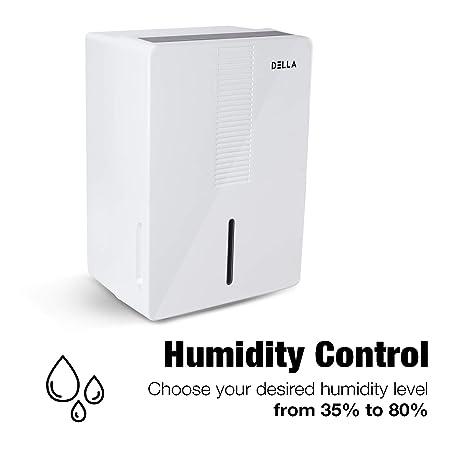 DELLA 1000 sq. ft. 30 Pint Dehumidifier Humidify Control Energy Star Certified Mini Portable