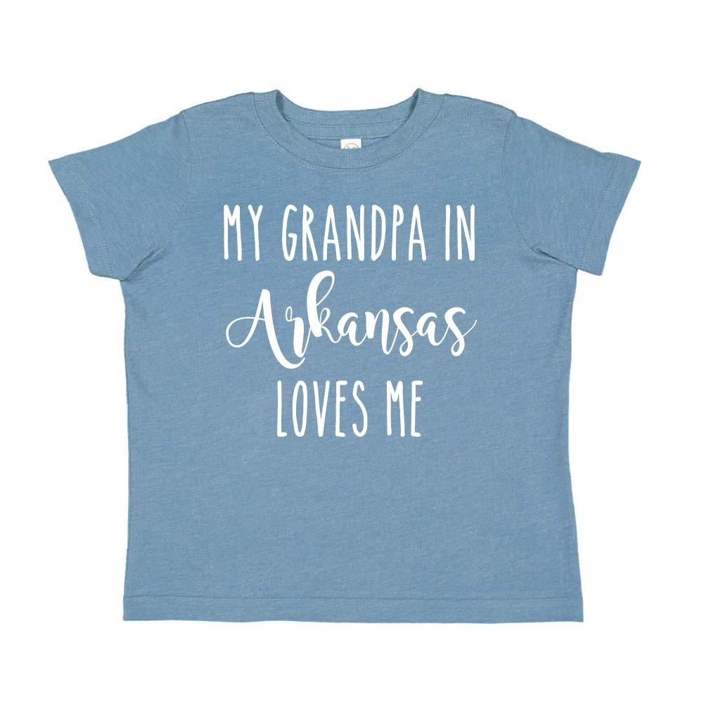 My Grandpa in Arkansas Loves Me Toddler//Kids Short Sleeve T-Shirt