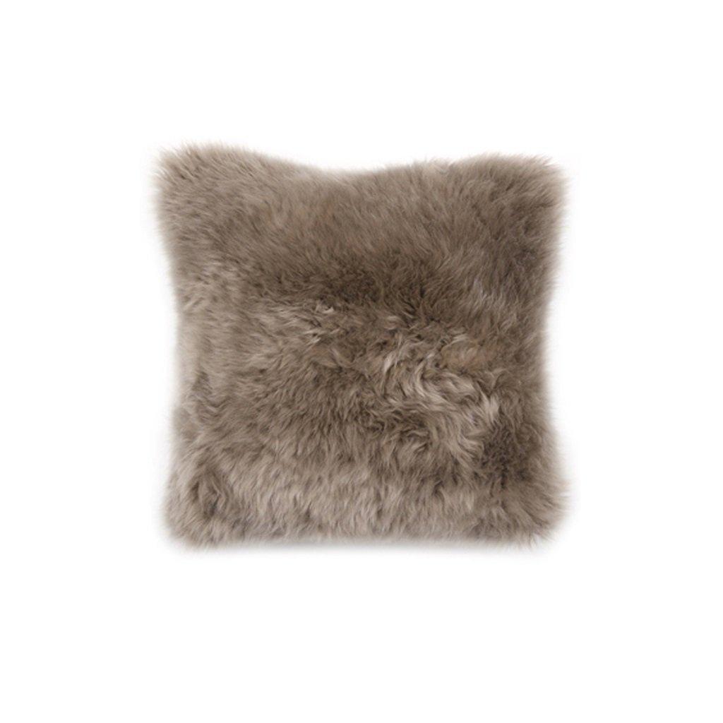WAN SAN QIAN- Back Cushion Australian Wool Cushions European Style Sofa Pillow Simple Pillow Cushions Large Pillow Long 50cm 50cm Back Cushion ( Color : Color C ) by Back Cushion