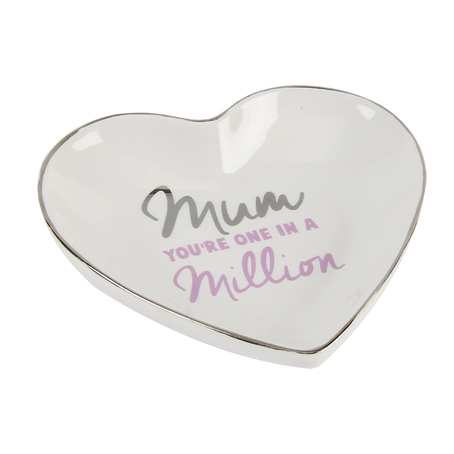 Lasting Memories Heart Shaped Trinket Plate Mum You/'re one in a Million