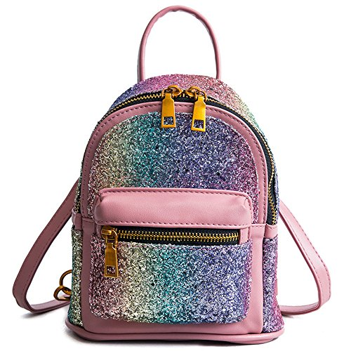 Multi Shoulder Shoulder Meaeo Pink Bag Backpack Small Student Bag Pink HA08wqO