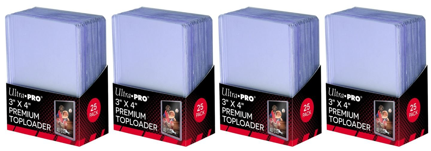 200 Top Loaders Ultra Pro Series NEW 3 X 4 Regular Toploaders Ultra Clear Card Opbergsystemen, standaards Verzamelkaarten, ruilkaarten