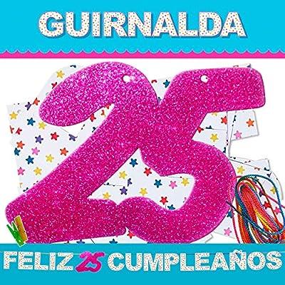 inedit Festa - 25 Años Cumpleaños Guirnalda para Fiestas ...