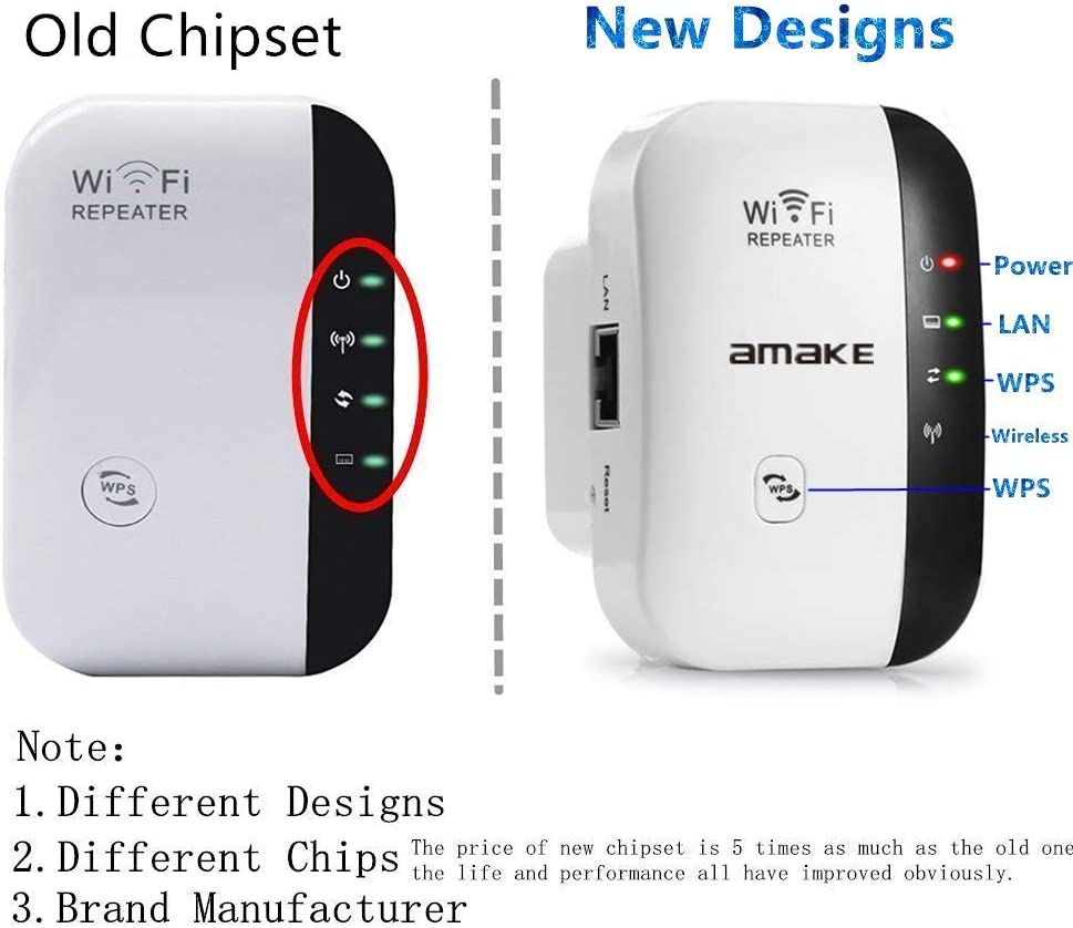Easy Set-Up WiFi Signal Booster WiFi Range Extender Super Boost WiFi Up to 300Mbps  Repeater Access Point 2.4G Network with Integrated Antennas LAN Port /& Compact Designed Internet Booster
