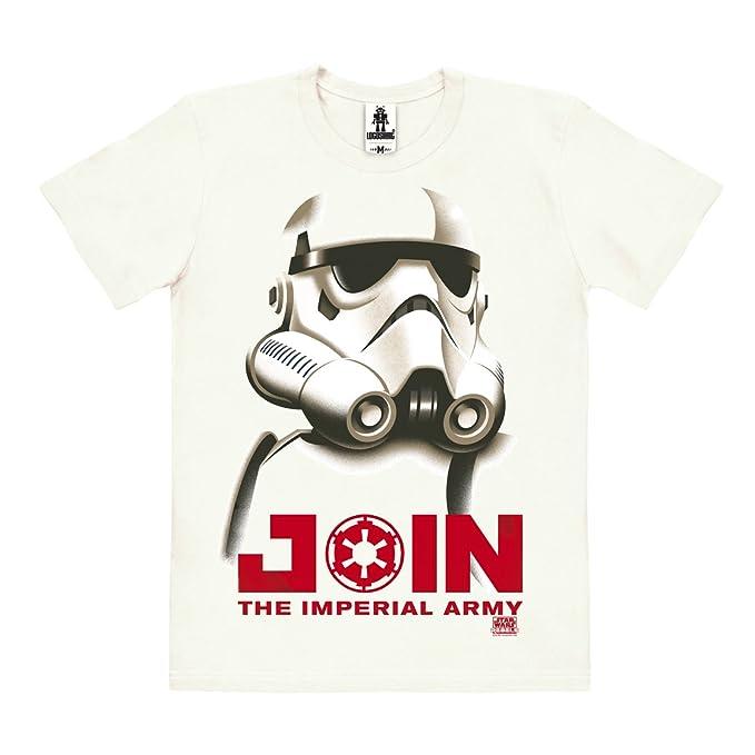 Logoshirt Star Wars - Stormtrooper - Imperio Galáctico Camiseta 100% Algodón Ecológico (Cultivo Ecológico) - Blanco Antiguo - Diseño Original con Licencia: ...