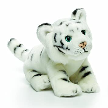 Amazon Com Nat And Jules White Tiger Plush Toy Small Baby