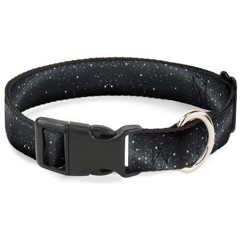 Buckle-Down Plastic Clip Collar - Galaxy Arch Black/Gray/White - 1/2'' Wide - Fits 6-9'' Neck - Small