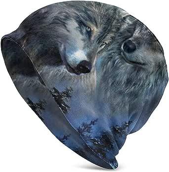 Gorro unisex con diseño de lobo y animales, para invierno ...