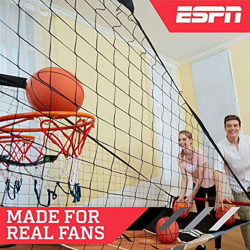 ESPN EZ Fold 2 player Basketball Game with Polycarbonate Backboard and LED Scoring by ESPN (Image #1)