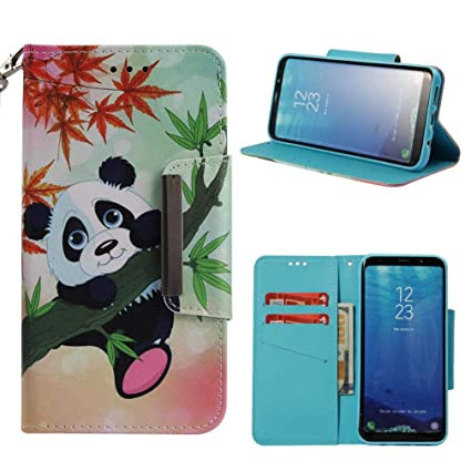 Firefish Galaxy S8 Case,3D Printing PU Leather Flip Folio Dust Proof Credit Card Holder