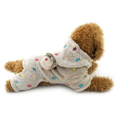 Sudadera de lunares con capucha para perros, de la marca Selmai