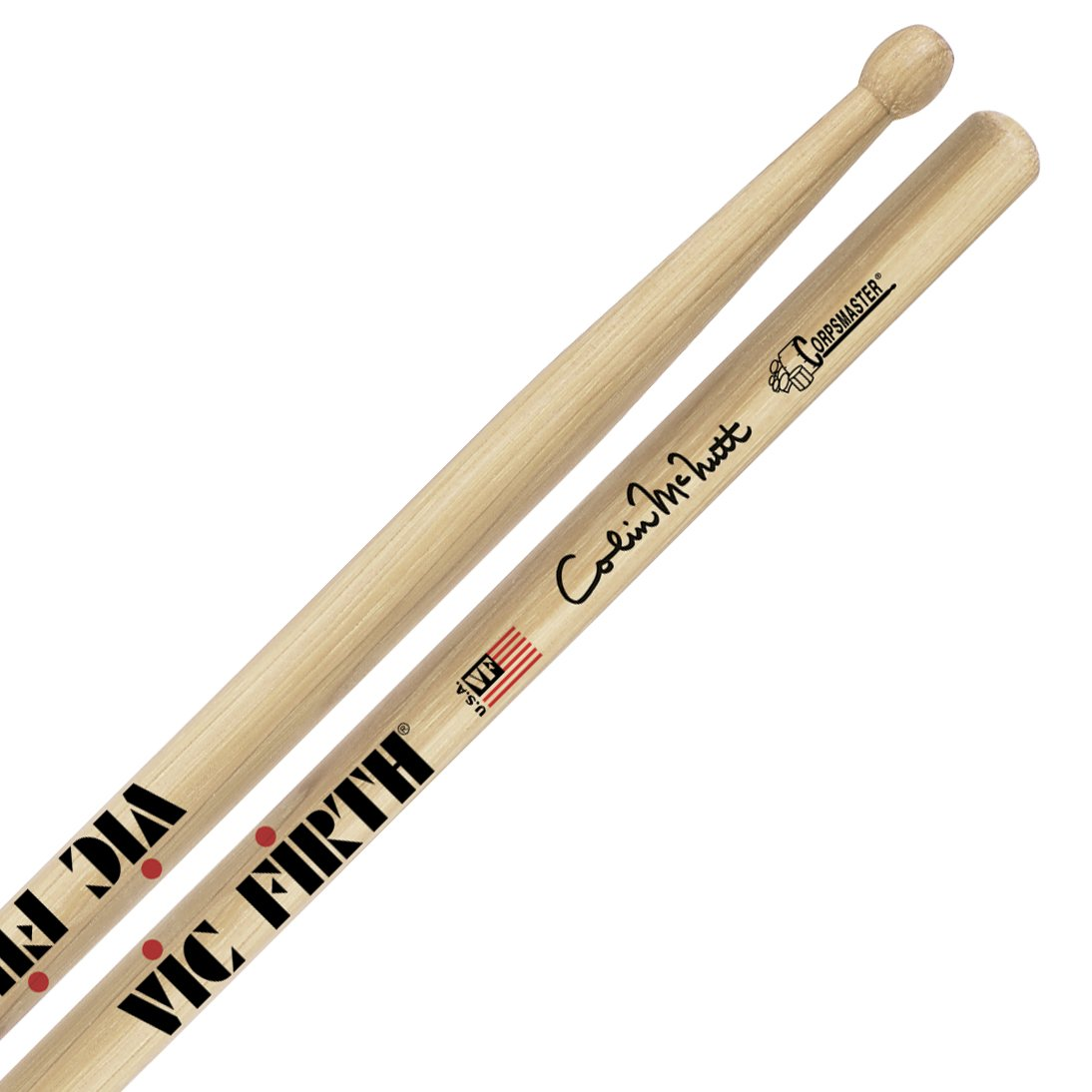 Vic Firth Corpsmaster Signature Snare Sticks -- Colin McNutt (SCM) by Vic Firth