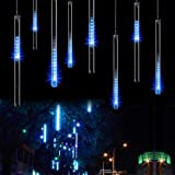 Minger LED Meteor Shower Lights 30CM 8 Tube 144 LEDs