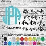 "6"" Monogram Letters Vinyl Die Cut Decal Sticker for Car Laptop etc."