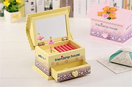 cuzit amistad casa caja de música juguete joyas caja para casa oficina decoración cumpleaños Navidad año nuevo graduación fiesta gift-yellow: Amazon.es: Hogar