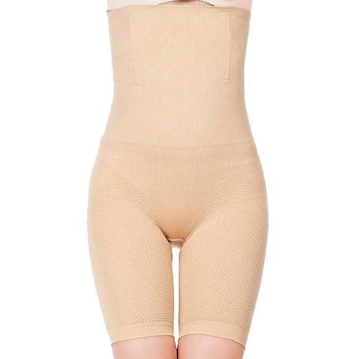 5116180fdc MUKATU High Waist Tummy Control Shorts Mid-Thigh Slimmer Bodysuit Shapewear  for Women Beige