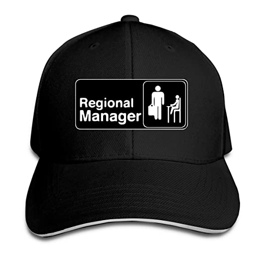 Image Unavailable. Image not available for. Color  Adult Regional Manager  Assistant Cotton Lightweight Adjustable Peaked Baseball Cap Sandwich Hat  Men Women 0b85e34c1f6f