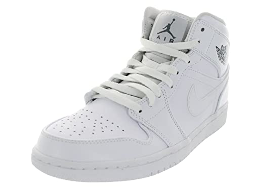 51b9fd5af9 Nike Men's - Air Jordan 1 Mid *RARE* - White Cool Grey - UK 10.5 ...