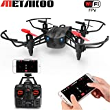 Metakoo-ES RC Drone con Cámara HD WiFi FPV, Estructura Permeable al Viento, 6-Axis Gyro, Retención de Altitud, Velocidad Ajustable, Modo sin Cabeza, la Tecla de Despegar/ Aterrizar, 3D Flips, VR, M5
