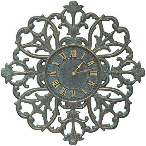Whitehall Filigree Silhouette 21-in Indoor Outdoor Wall Clock