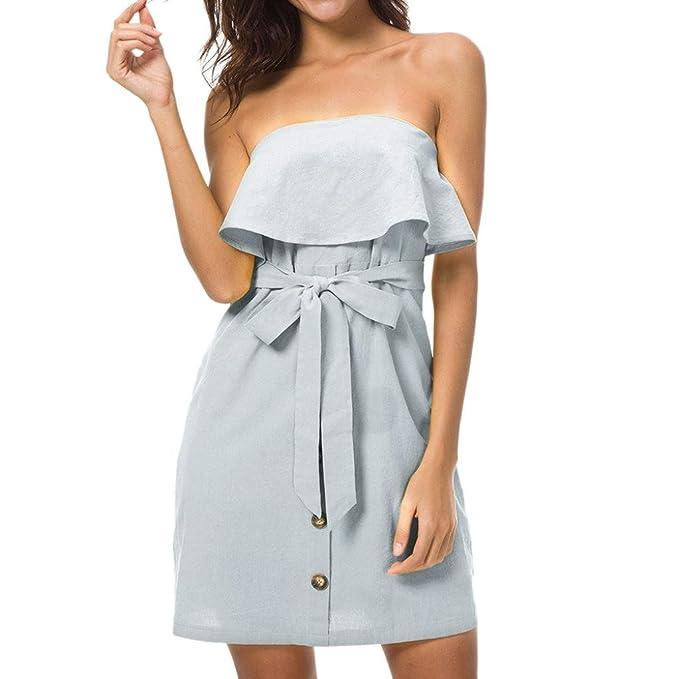uface Wrap Chest Button Buttoned Waist Dress Button OFF ...