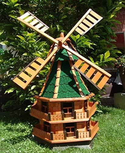 Mega Molino de viento, molino de viento para jardín, Windmühlen Jardín, wmb140gr de OS verde gris de verde de madera claro sin O. con iluminación solar: Amazon.es: Productos para mascotas