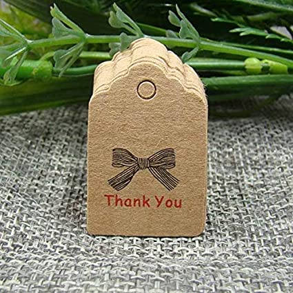 6e5ac51c5293 Amazon.com: Lysee 32cm Scallop Kraft Gift tag Paper Handmade with ...