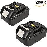 2 Paquets Forrat BL1850 18V 5.0Ah Li-ion Remplacement Batterie pour Makita BL1840 BL1830 LXT400 194205-3
