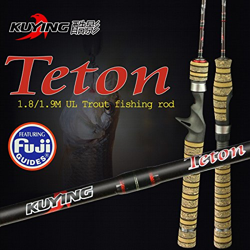 11Amber Teton 1.8 Meters 1.9 Meters UL Lure Carbon Casting Spinning Fishing Rod With FUJI Parts Fishing Pole Medium Action (Casting1.9M) For Sale