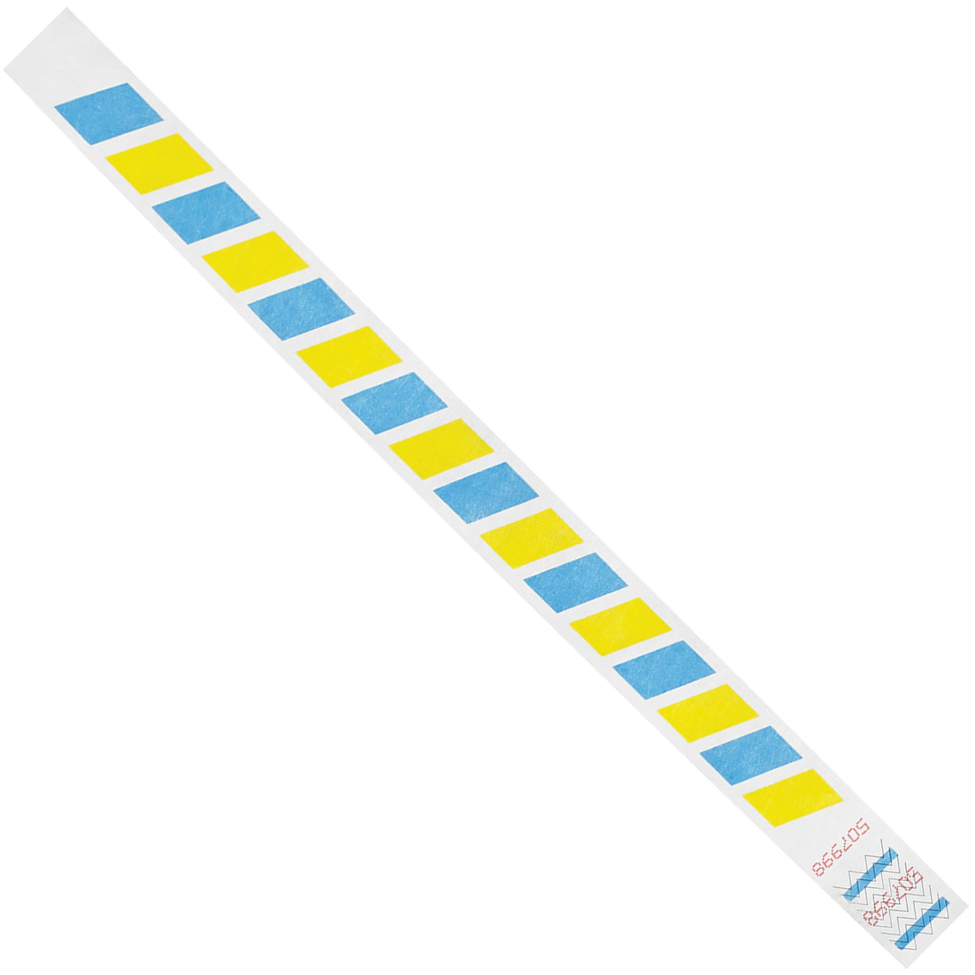 Top Pack Supply Tyvek Wristbands, 3/4'' x 10'', Stripes, Blue/Yellow (Pack of 500)