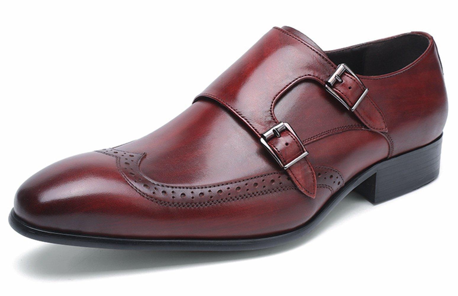 Felix Chu Men's fashion Color leather shoes Men double breasted shoes Men Weddings dress shoes business office shoes