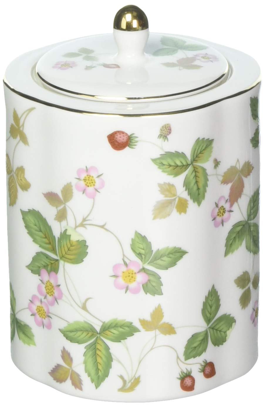 Wedgwood Wild Strawberry Tea Caddy, Green
